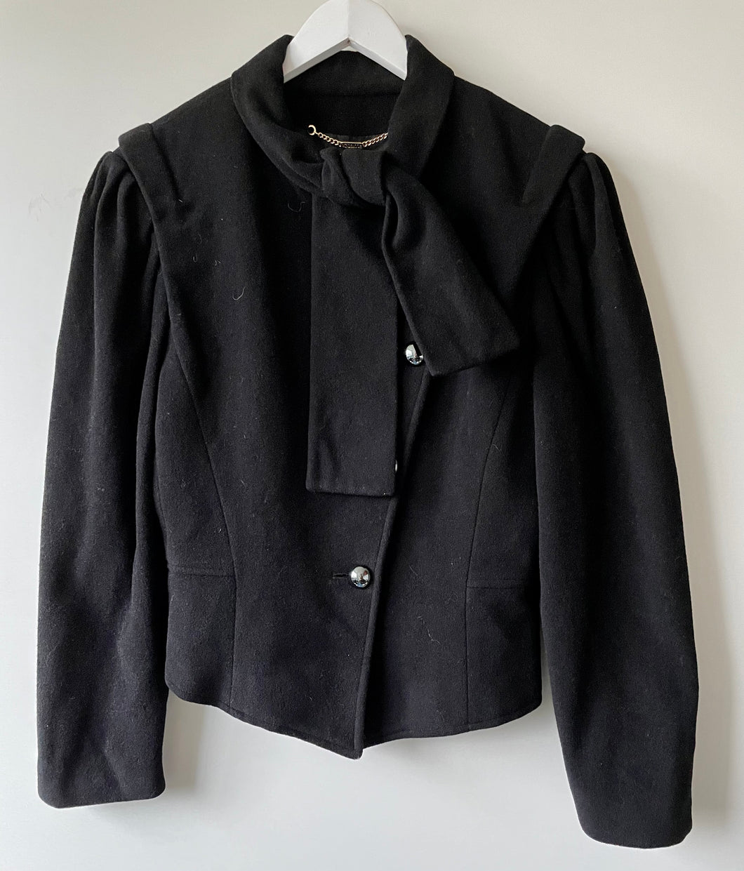 Windsmoor black womans  1980s jacket