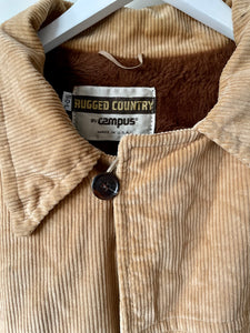 Chunky and warm American 1970s Rugged Country corduroy work chore jacket L