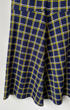 Load image into Gallery viewer, Sleeveless check A-line 1970s shift dress S/M