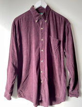 Load image into Gallery viewer, Purple cord men's shirt M