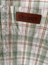 Load image into Gallery viewer, Carhartt check cotton short sleeve mens shirt M