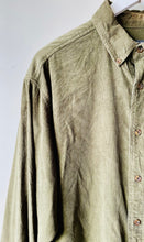 Load image into Gallery viewer, Olive green corduroy shirt by Woolrich L