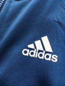 Blue/white Adidas track jacket. L