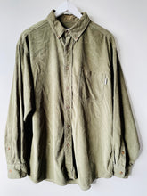 Load image into Gallery viewer, Woolrich green cord shirt L