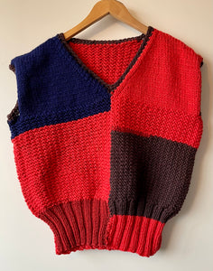 Vintage chunky hand knit Tank top M/L