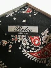 Load image into Gallery viewer, New Navy and red floral and paisley Relco shirt XL