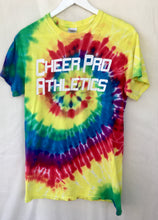 Load image into Gallery viewer, Cheerleaded tye dye tee