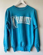 Load image into Gallery viewer, Charlotte turquoise sweatshirt L