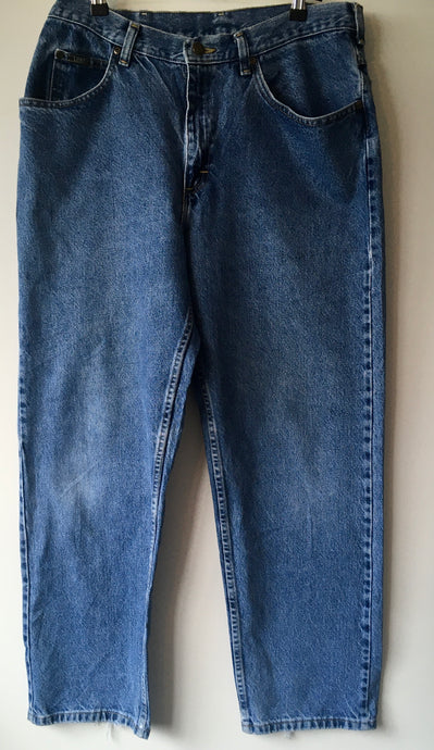 Lee straight leg mens blue jeans L