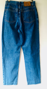 1990s vintage high waist blue denim jeans M