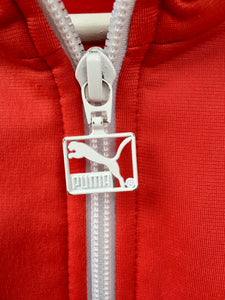 Red and white Puma Track jacket L