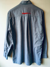 Load image into Gallery viewer, Grey/blue Dickies long sleeve shirt L