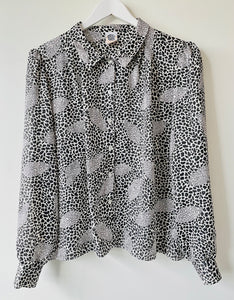 1989s black and white blouse M/L
