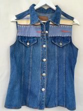 Load image into Gallery viewer, Denim waistcoat