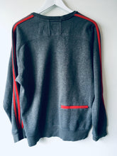 Load image into Gallery viewer, Grey/Red Adidas sweatshirt M 2000s