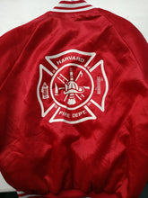 Load image into Gallery viewer, Red satin baseball jacket L