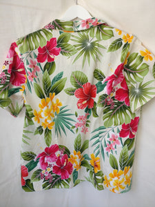 Hawaiian 90s blouse L XL