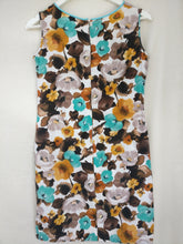 Load image into Gallery viewer, 1960s cotton print dress S