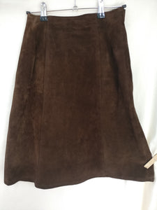 1960s brown suede skirt