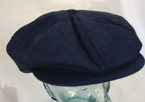 Blue baker boy cap