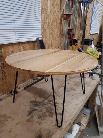 Custom round coffee table