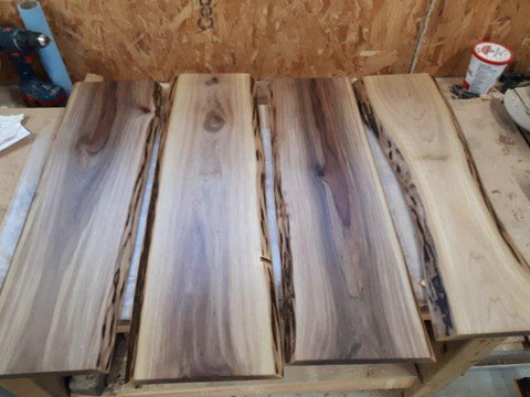 Walnut boards back