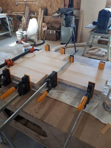 Glue up for cross