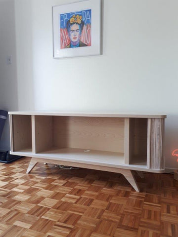Legs attached to the credenza