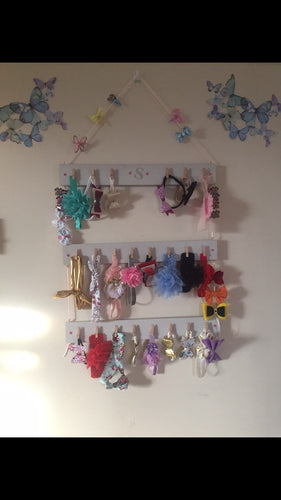 Bow holder * please leave a message with what letter you would like displayed and weather or not You want the hanger and which color wood*