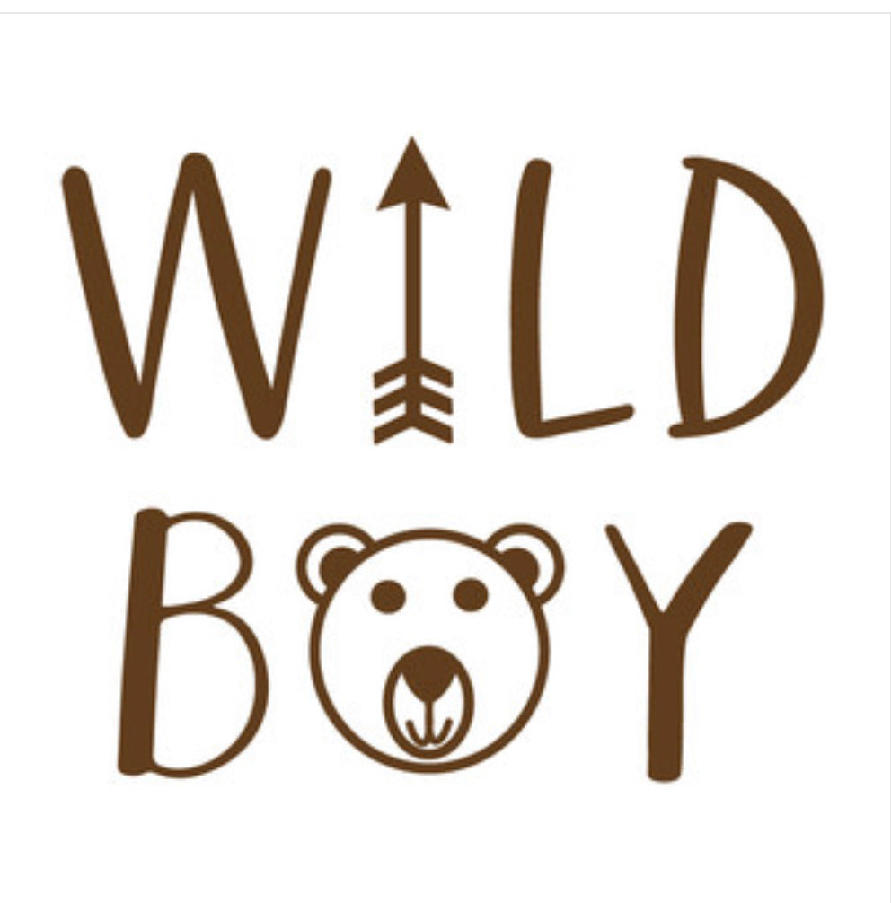Wild boy tee (leave a note with color writing)