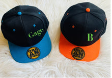 Load image into Gallery viewer, Kids snap backs (personalised)