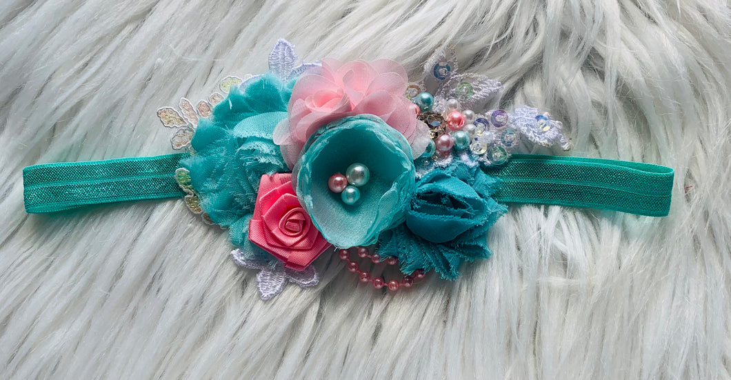 Aqua love headpiece