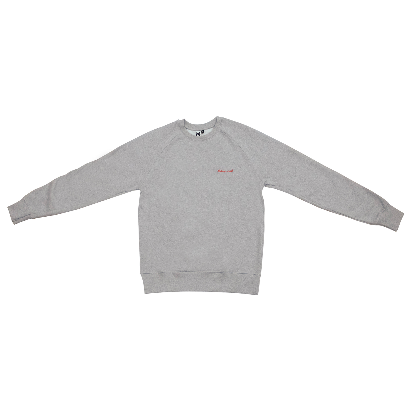 Team Cat Sweatshirt Grey/Red Stitching