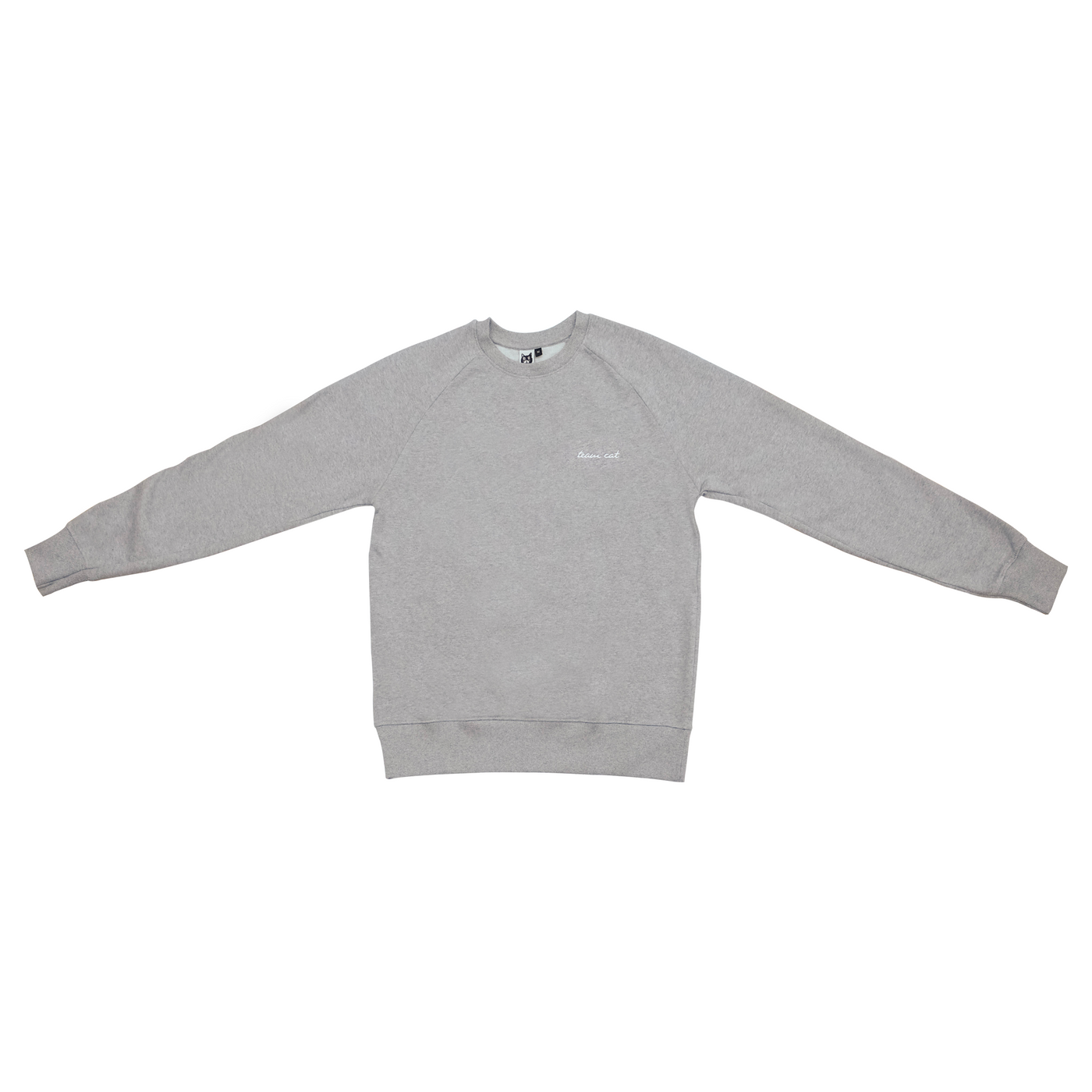 Team Cat Sweatshirt Grey/White Stitching
