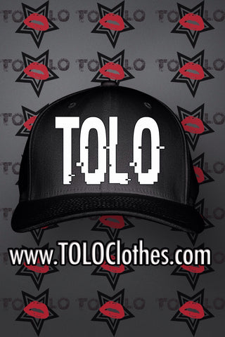 Black Tolo Glitch Snapback Hat