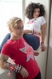 Ladies Tee  Kiss the Star - RED