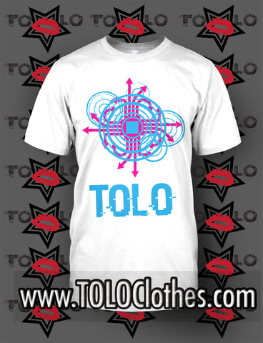 White TOLO Glitch Tee