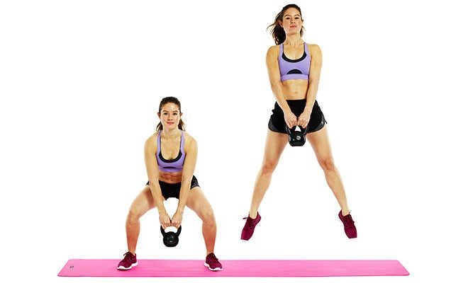 Kettlebell Jump Squat - Elite Crossfit Lower Body Exercise