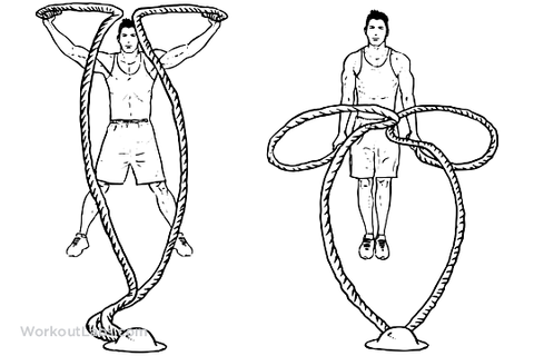 Jumping Jacks Battle Rope