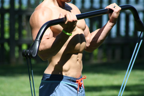 Gorilla Bow workout outdoors