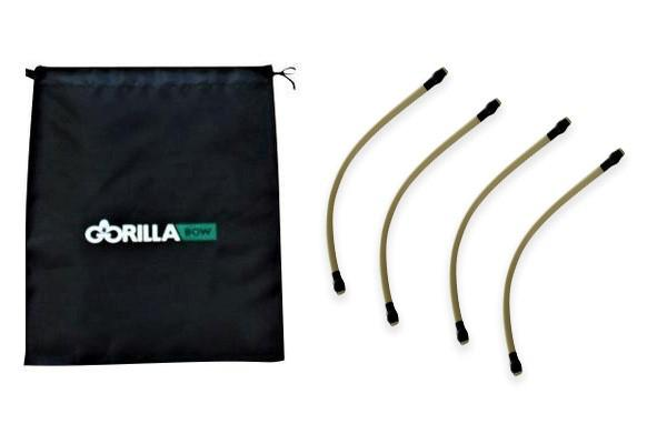 Bench Band Kit with 4 x 90 pound resistance bands for Gorilla Bow