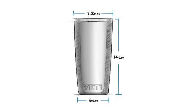 10oz Tumbler with MagSlider Lid (295ml) Exterior