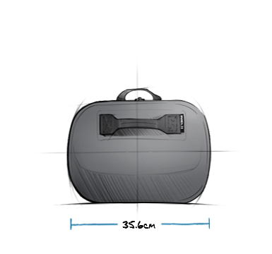 Panga Submersible Duffel 50 Storm Gray Exterior Side