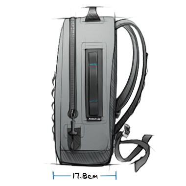 Panga 28 Submersible Backpack Exterior Side