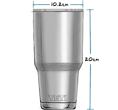 30 oz Tumbler with Magslider Lid (887ml) Exterior
