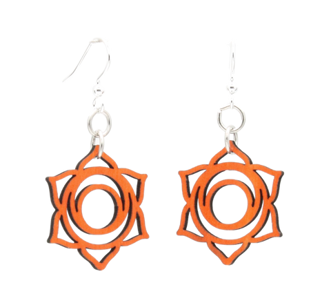 Svadhishthana Chakra Wood Earrings