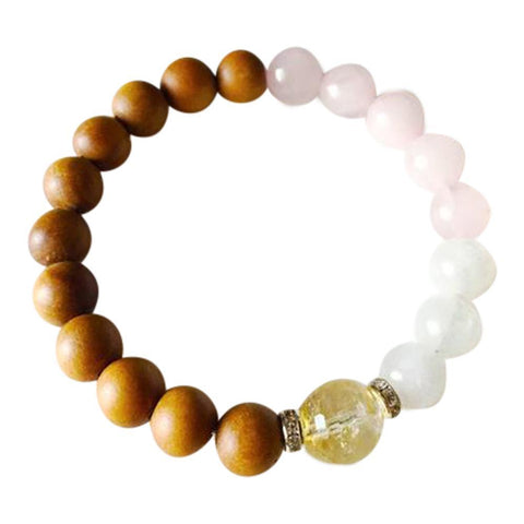 Citrine, Moonstone, Rose Quartz & Sandalwood