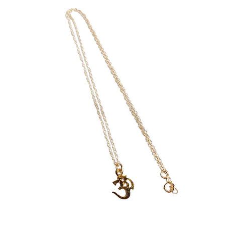 Om Stamp 14k Gold Filled Charm Necklace