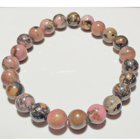 Rhodonite Elastic Stretch Bracelet