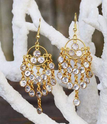 Gemstone Chandeliers earrings